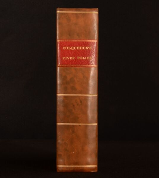 1800 Treatise on the Police of the River Thames Colquhoun Folding Map 1st Scarce