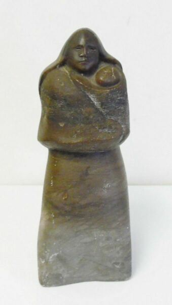 Signed 1975 Listed Artist Francisco Zuniga Carved Stone Sculpture Woman