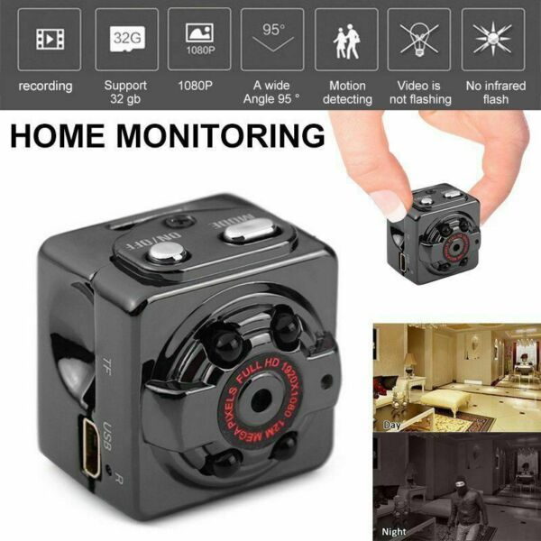 Mini 1080P HD Hidden SPY Camera Sport Detection Video Recorder Cam Night Vision