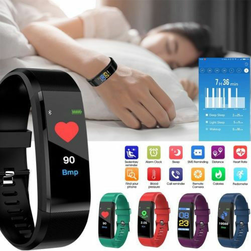 Smart Band Watch Bracelet Wristband Fitness Tracker Blood Pressure H