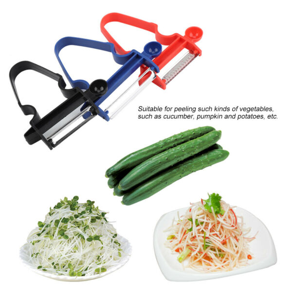3 PACK Small Vegetable Peeler Cabbage Wide Mouth Graters Salad Potato Knife New