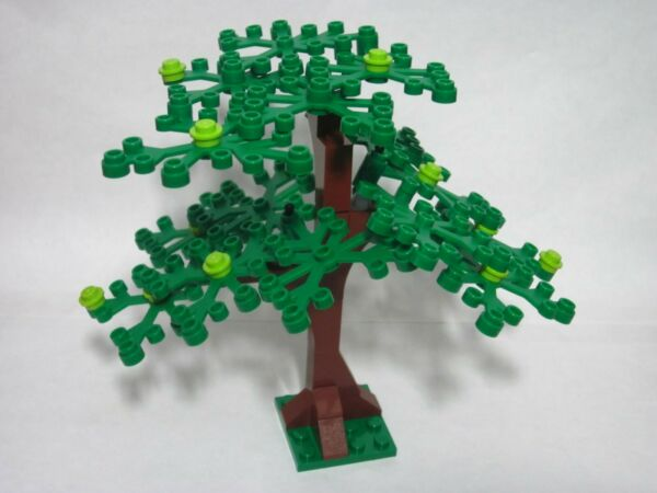 Custom forest tree for LEGO green leaves angled branches all new parts