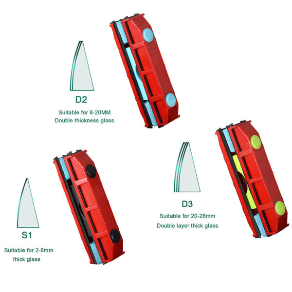 Magnetic Window Cleaner Double Side Glass Wiper Glazing Glazed Cleaning Tools