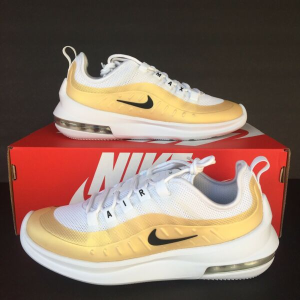 Nike Womens Air Max Axis Running Shoes White Black Gold AA2168 103 Select Size