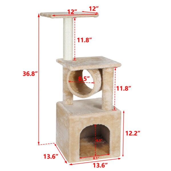 ACTIVITY CAT TREE TOWERS PET HOUSE CAVE WITH SCRACHING POSTS & CLIMBING LADDER