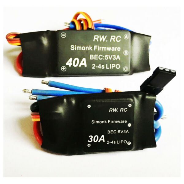 Simonk 30A 40A 2-4S Brushless ESC Speed Control for Rc Multicopter