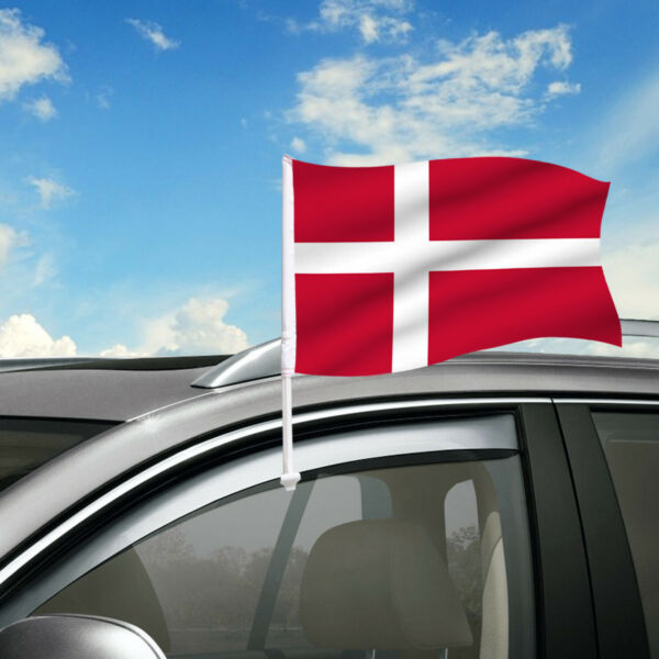 Denmark Car Flag 18