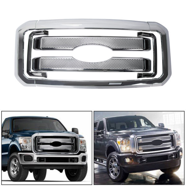 NEW Front Mesh Grille Fits 2011-2016 Ford F250 F350 Super Duty Grill Covers