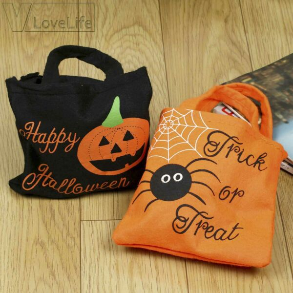 Halloween Pumpkin Trick Or Treat Bags Candy Tote Bags For Children Costume Party