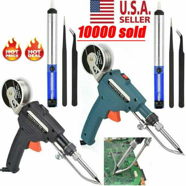 Manual Soldering Gun Electric Iron Automatic Soldering Machine Kit Tool 110V USA