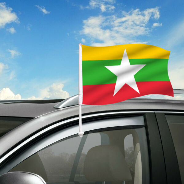 Myanmar Car Flag 18