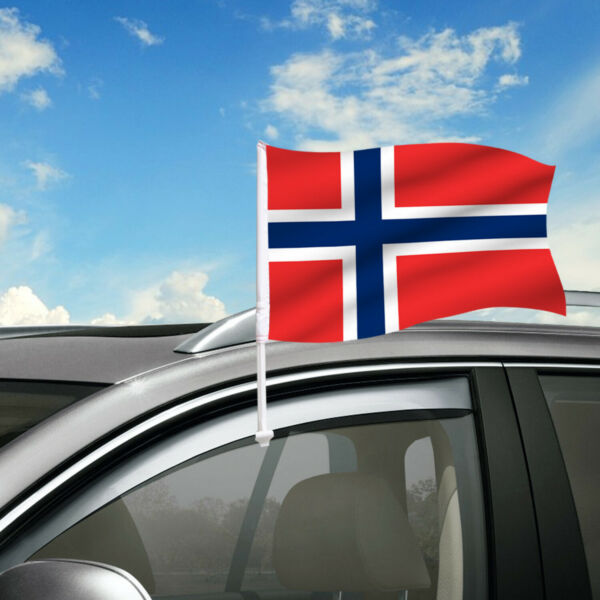 Norway Car Flag 18