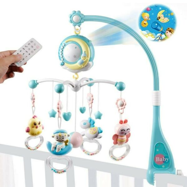 150 Melodies Bed Bell Kids Crib Musical Mobile Cot Music Box Baby Rattles Toy