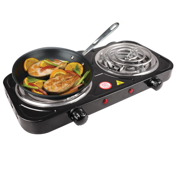 Electric Double Burner 2000W 110V Hot Plate Portable Camping Dorm Stove Cooker
