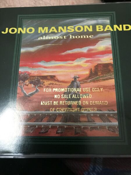 Manson Jono Band : Almost Home CD Promo Copy With John Popper & Blues Traveler