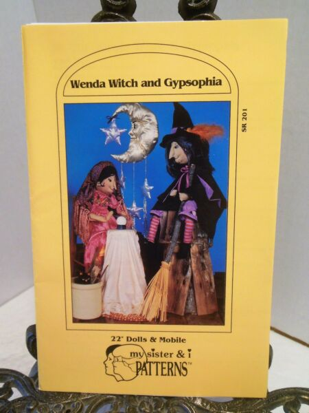 Witch and Gypsy Fortune Teller DOLLS SEWING PATTERN Moon Stars Mobile Halloween