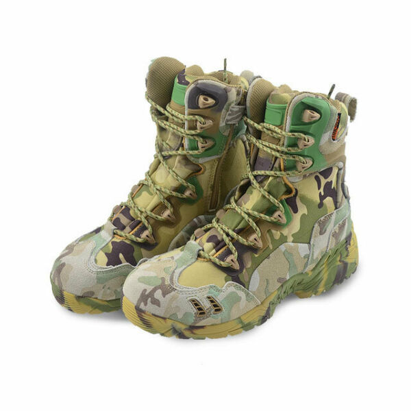 Men Camo Outdoor Military Tactical Boots Desert Shoes Hiking Travel Camping Boot