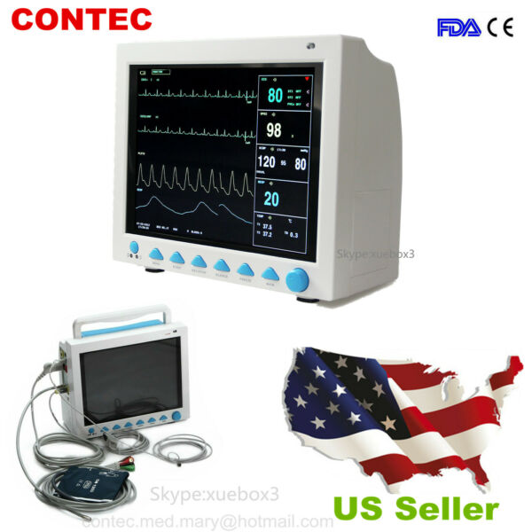 FDA CMS8000 Vital Sign ICU Monitor 6-parameter Free Patient MonitorNEW US Sell