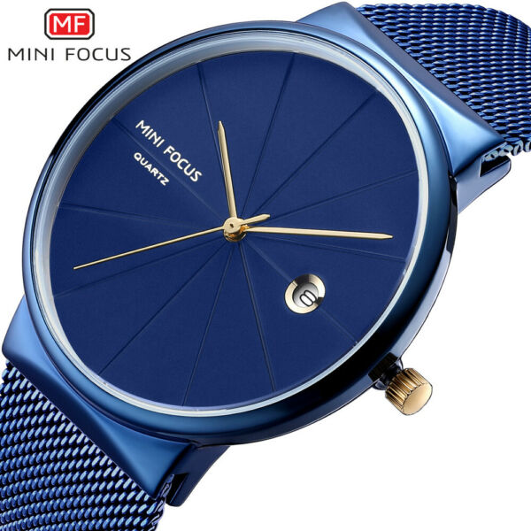 MINI FOCUS Men''s  Business  simple thin automatic date  fashion watch MF0176G