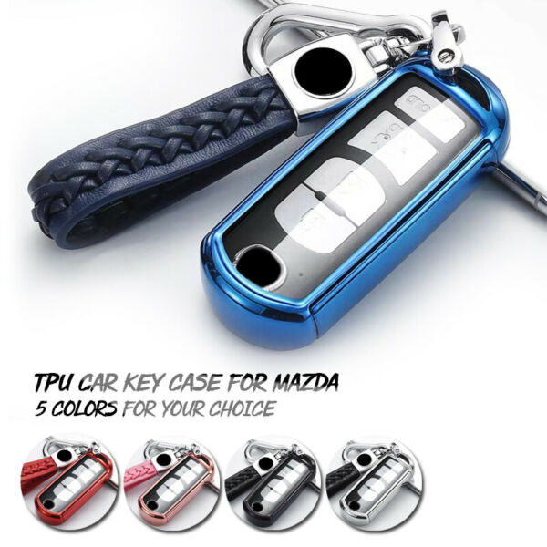 Soft TPU Car Remote Smart Key Fob Shell Cover Case For Mazda 2 3 6 CX-7 MX-5