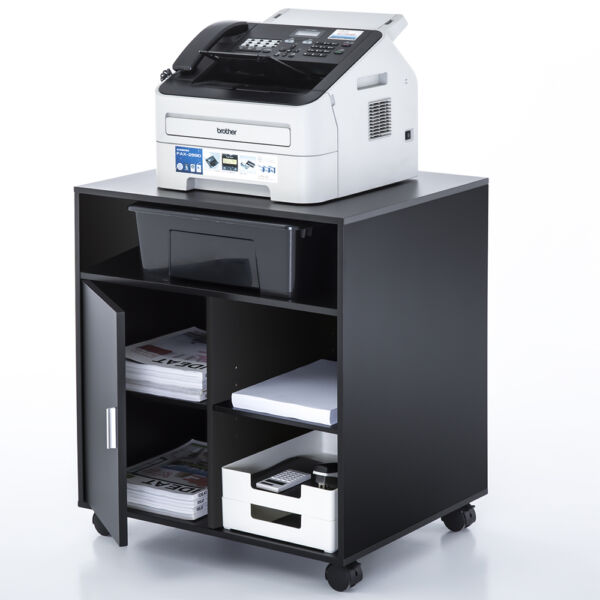 Mobile Laptop Printer Cart Rolling Computer Office Stand Portable Table