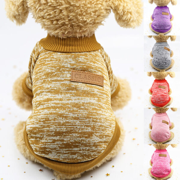 Pet Clothing Dog Clothes For Small Shirt Dog Cat Sweater Autumn Winter Warm C $5.12