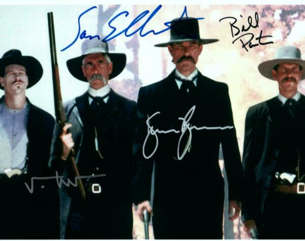 Sam Elliot + 3 Tombstone signed 8x10 Picture Autographed Photo COA included
