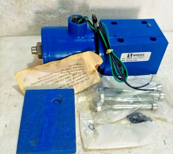 Bardex Directional Control Vv 3409 131 420 1 Hyd.J12S W Solenoid K12 111E 46A
