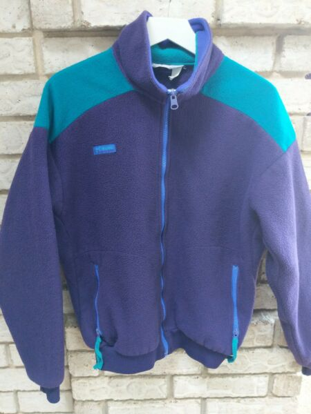 Vintage Columbia Colorblock Fleece Size M Made In USA $24.99