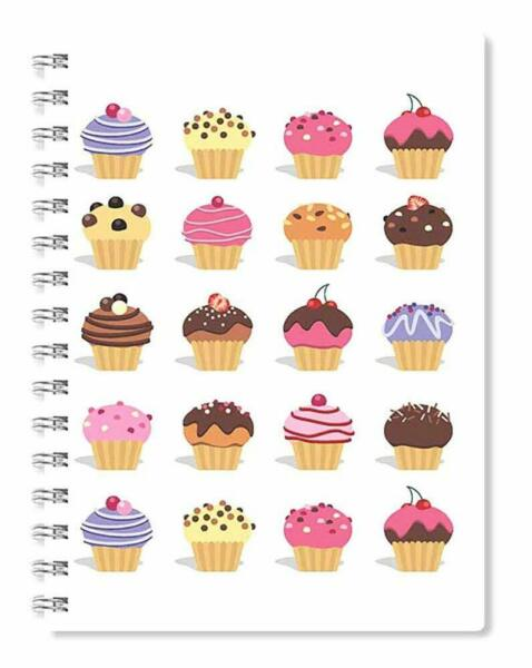 Cupcakes Wire Bound Spiral Notebook A5 Journal Diary Valentines Day Cute Gift