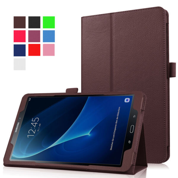Fits Samsung Tab A 10.1''SM-T580 T585 Tablet Leather Stand Flip Case Cover