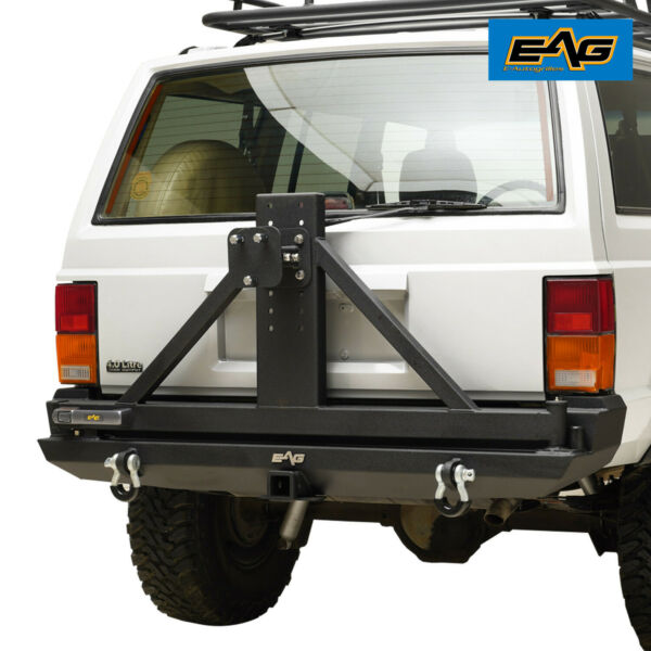 EAG Rear Bumper with Tire Carrier amp; 2quot;Hitch Receiver Fit 84 01 Jeep Cherokee XJ $689.99