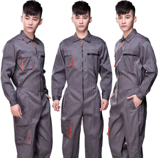 Work Wear Men#x27;s Overalls Boiler Suit Coveralls Mechanics Boilersuit Long Romper $47.06