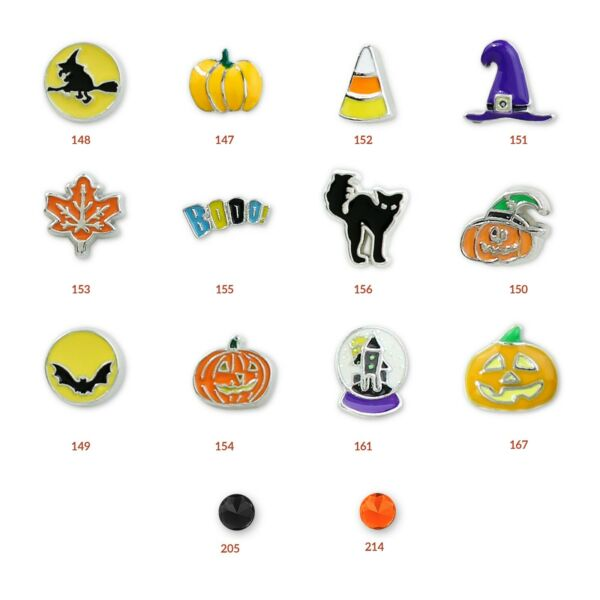 Halloween Floating Charms *Rare and Authentic* Charms for Charm Lockets and DIY