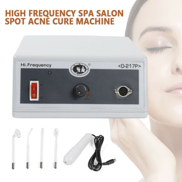 Pro High Frequency Beauty Facial Body Skin Care Spa Salon Cure Machine