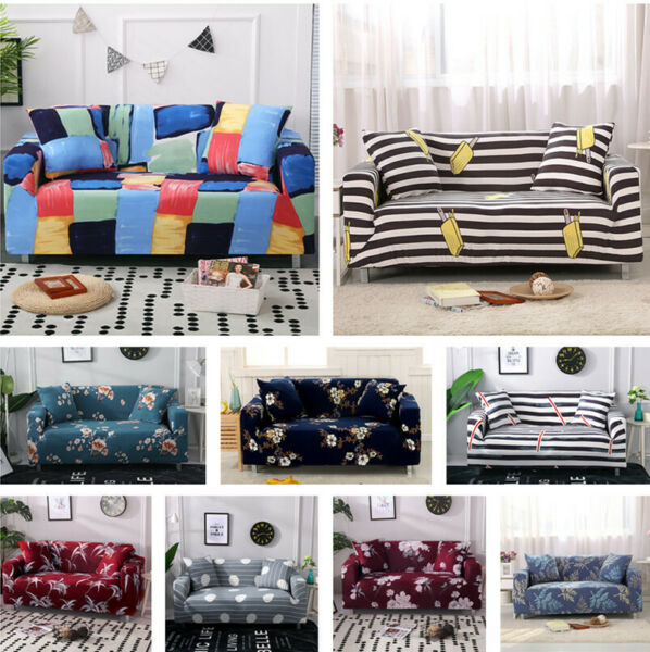 1 4 Seater Morden Home Sofa Cover Stretch Washable Couch Pillow Home Slipcover $25.59