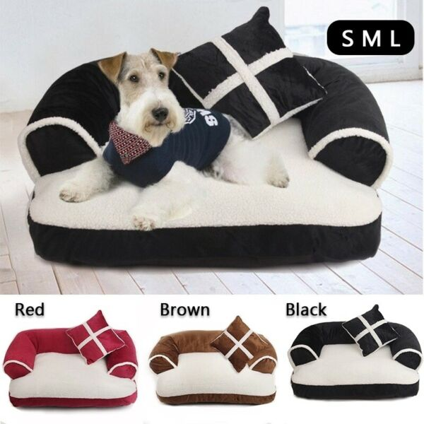 Pet Removable Dog Sofa Bed Cat Cover Mat House Washable Soft Cushion Kennel Seat $36.99