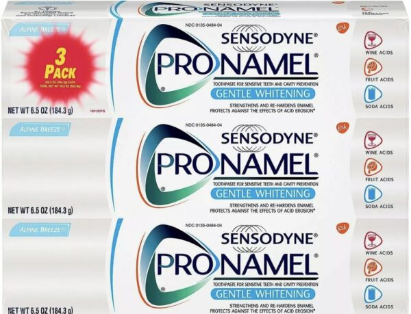 Sensodyne Pronamel Gentle Whitening Toothpaste for Sensitive Teeth 6.5 oz 3 PACK
