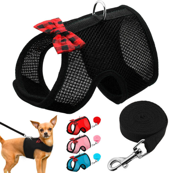 Breathable Mesh Dog Harnesses for Small Dogs Puppy Cat Chihuahua Vest Harness $4.99