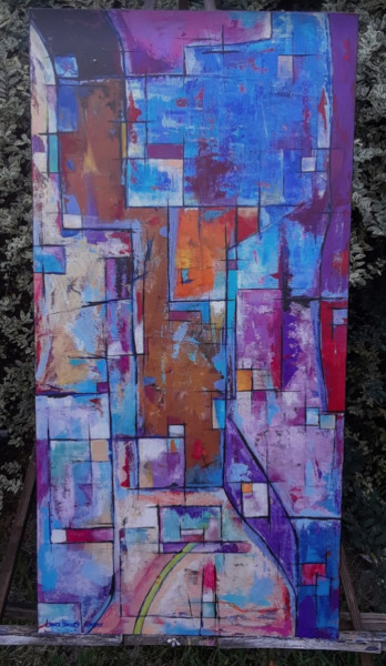 Original Abstract Painting on Canvas - American artist Lance Ba