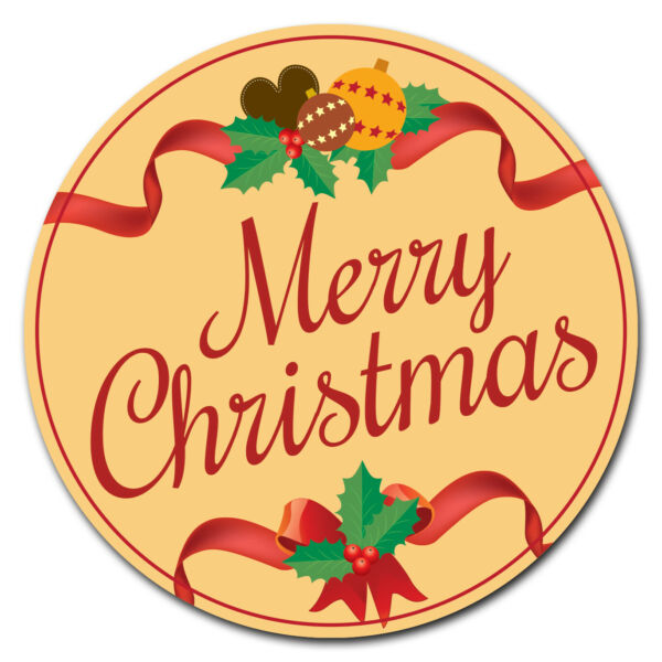 SignMission Merry Christmas Circle  Corrugated Plastic Sign