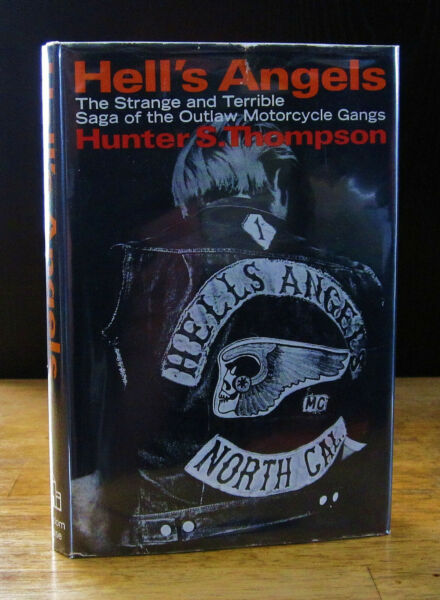 HELL'S ANGELS (1967) HUNTER S.THOMPSON SHARP 1ST EDITION 1ST PRINTING IN DJ