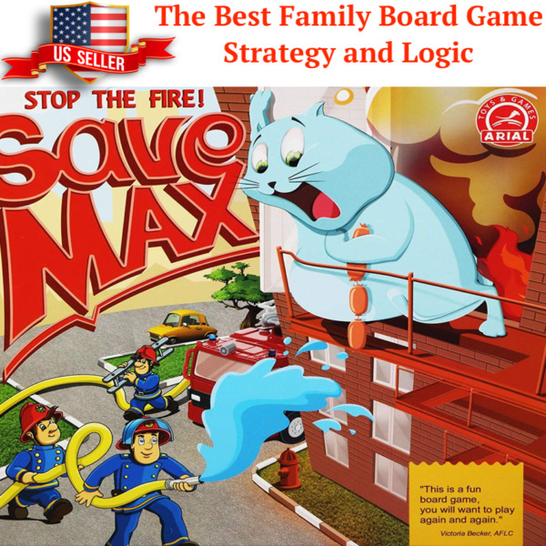 Save Max Strategy and Logic Board Game for Kids and Adults Ultimate Family Fun