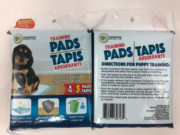 Puppy Potty Training Pads 22x22 ~ 2 Pack GKC Greenbrier Kennel Club Dogs
