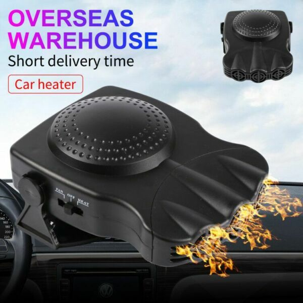 150W Car Portable 2 in 1 Ceramic Heating Cooling Heater Fan Defroster Demister R