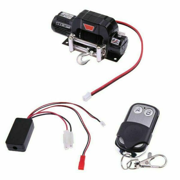Racing 1:10 Scale Electric Winch Metal for RC Car Crawlers TRX-4 TRX4 D90 SCX10