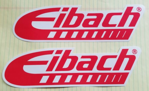 AUTHENTIC EIBACH RACING STICKERS DECALS 3quot; X 10quot; lot of 2