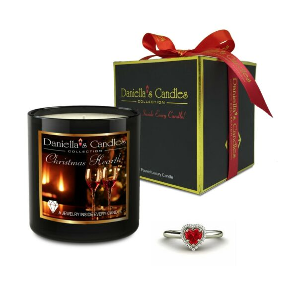 Christmas Hearth Jewelry Surprise Candle by Daniella's Candles