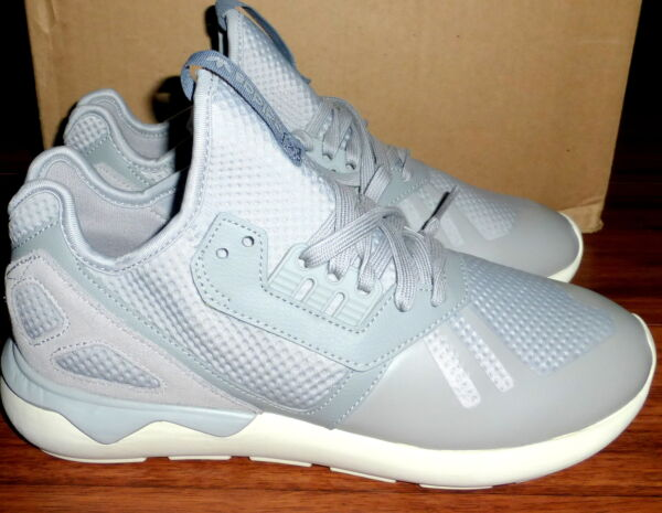 NEW ADIDAS RARE UK ISSUE ORIGINALS S75619 TUBULAR SILVER GRAY WHITE SNEAKERS 9