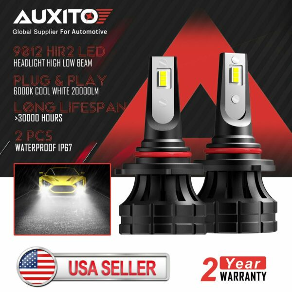 AUXITO 9012 HIR2 LED Headlight Bulb High Low Beam for Chrysler 200 300 2011-2015
